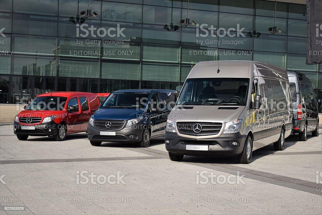 Mercedes-Benz LCV vehicles stock photo