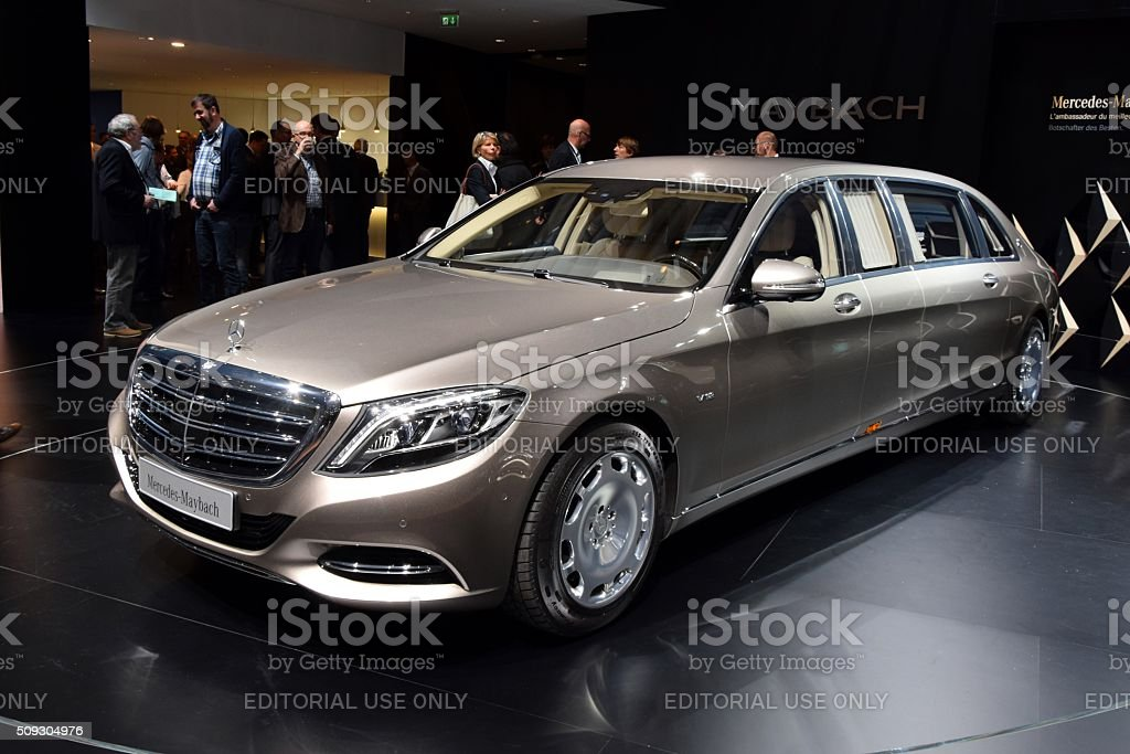 Mercedes-Benz Maybach on the motor show stock photo