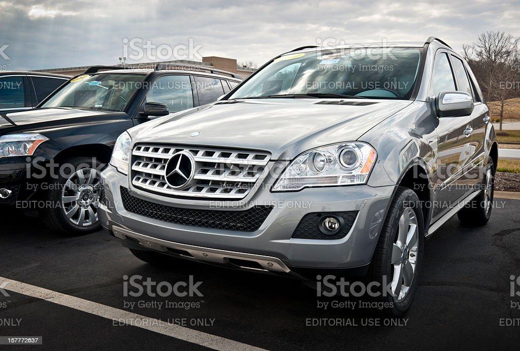 Mercedes-Benz M-Class SUV stock photo