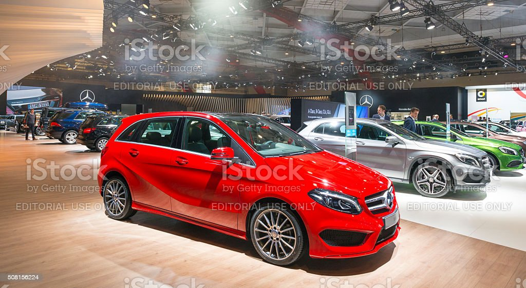 Mercedes-Benz motor show stand stock photo