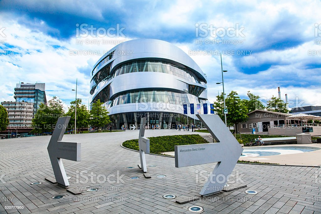 Mercedes-Benz Museum Stuttgart stock photo