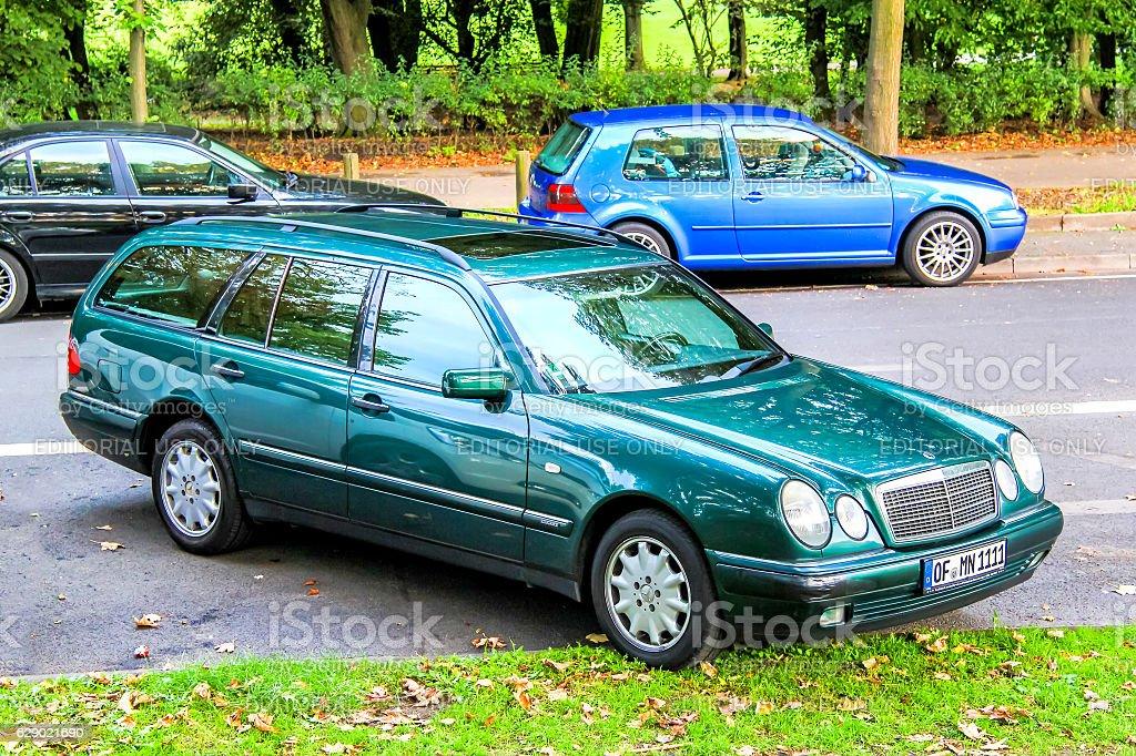 Mercedes-Benz S210 E-class stock photo