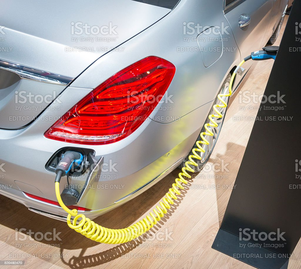 Mercedes-Benz S-Class S 500 e PLUG-IN HYBRID stock photo