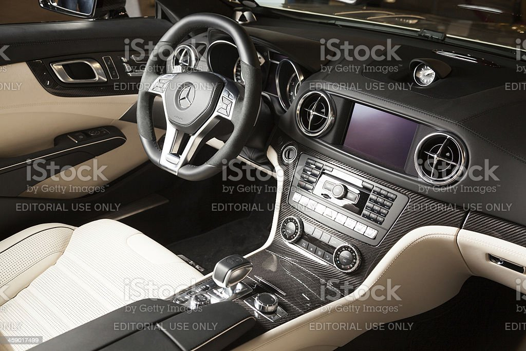 Mercedes-Benz SL55 AMG Convertible  interior royalty-free stock photo