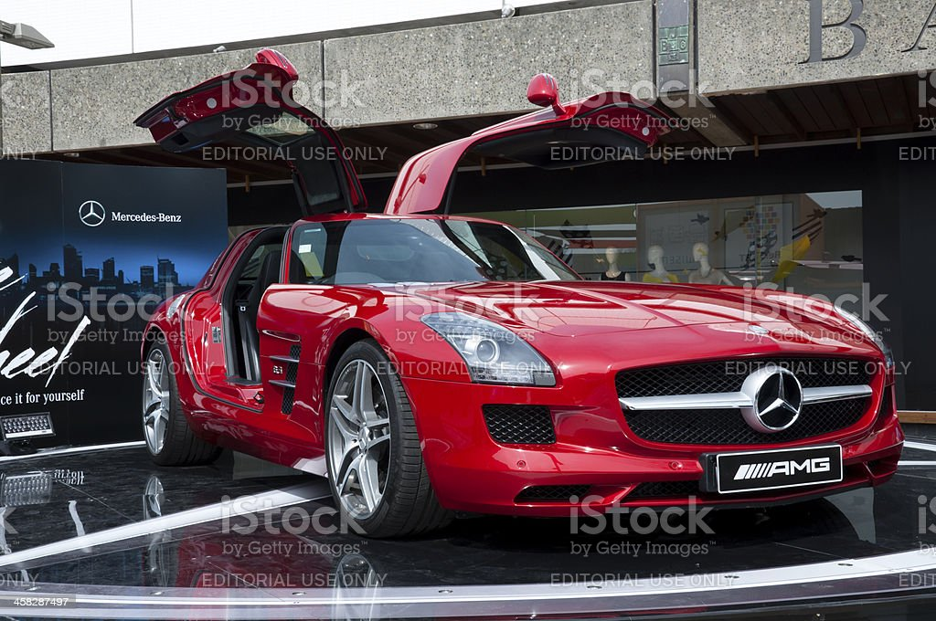 Mercedes-Benz SLS AMG 6.3 stock photo