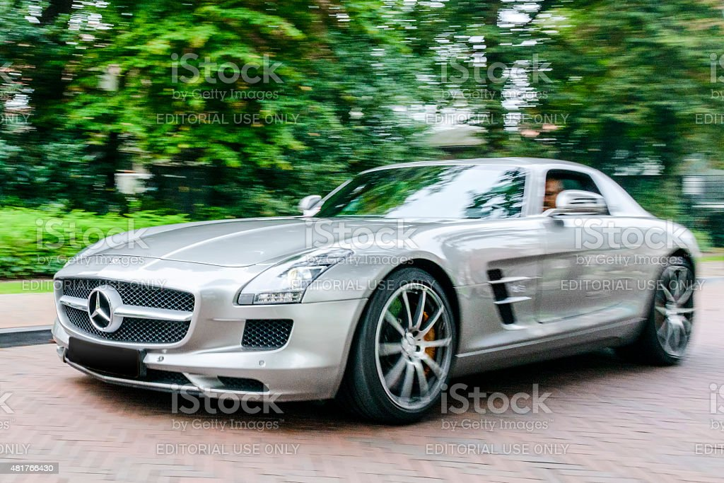 Mercedes-Benz SLS AMG sports car stock photo
