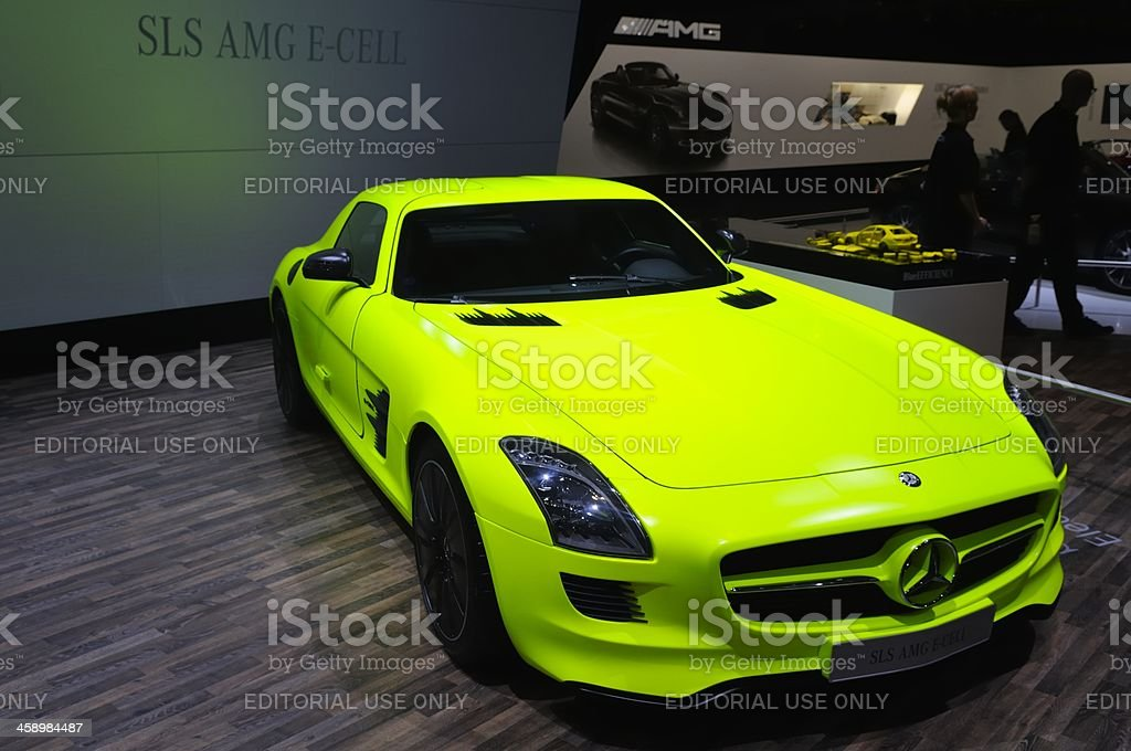Mercedes-Benz SLS F-Cell royalty-free stock photo