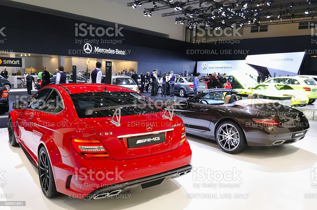 Mercedes-Benz sports cars. stock photo