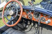 Mercedes-Benz SSK Sport convertible classic 1920s car interior