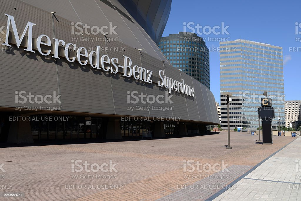 Mercedes-Benz Superdome stock photo
