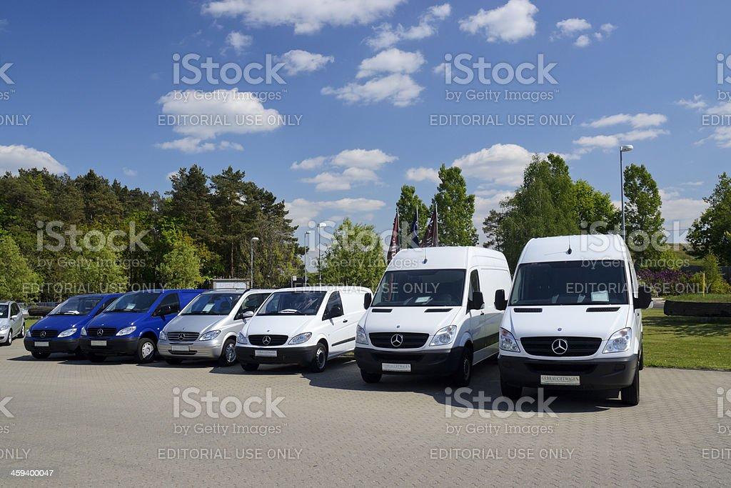Mercedes-Benz vans royalty-free stock photo