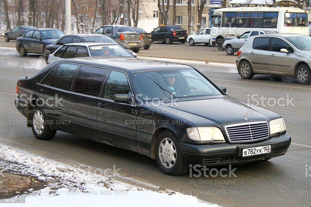 Mercedes-Benz W140 S600 Pullman stock photo