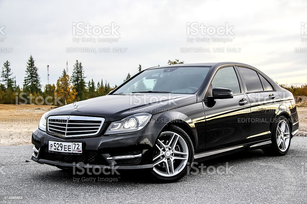 Mercedes-Benz W204 C-class stock photo