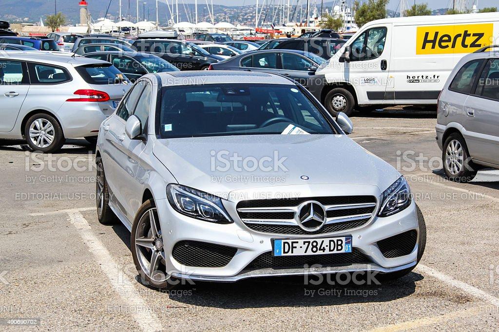 Mercedes-Benz W205 C-class stock photo