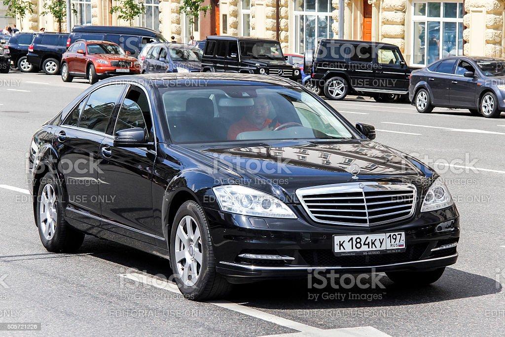 Mercedes-Benz W221 S-class stock photo