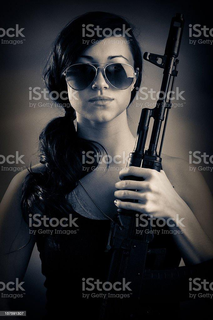 Mercenary Girl Portrait stock photo
