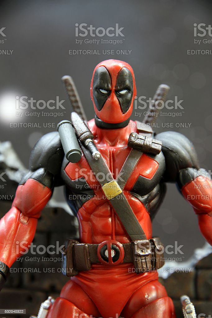 Mercenary in Red and Black stock photo