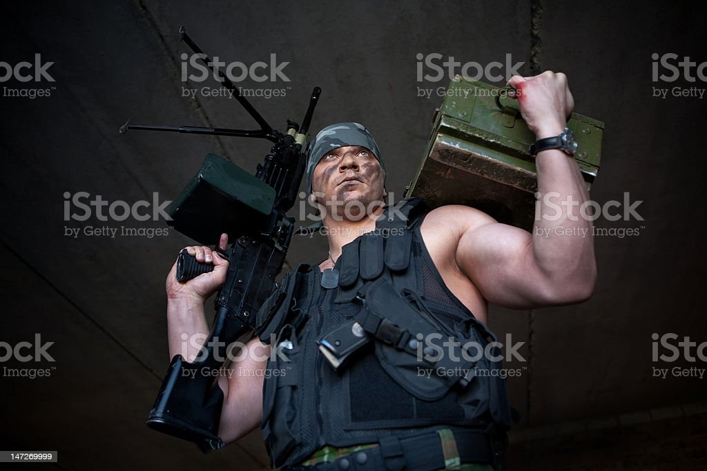 Mercenary royalty-free stock photo