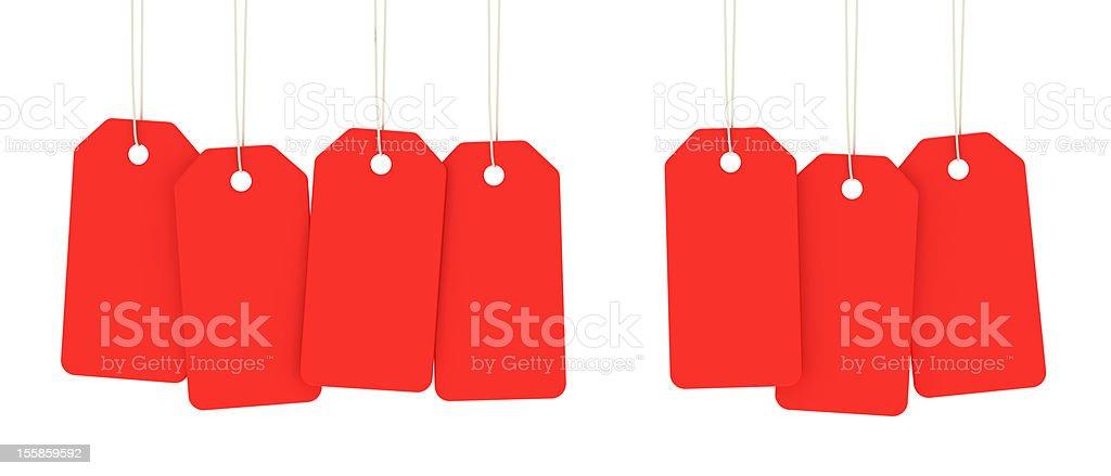 Merchandise tags stock photo