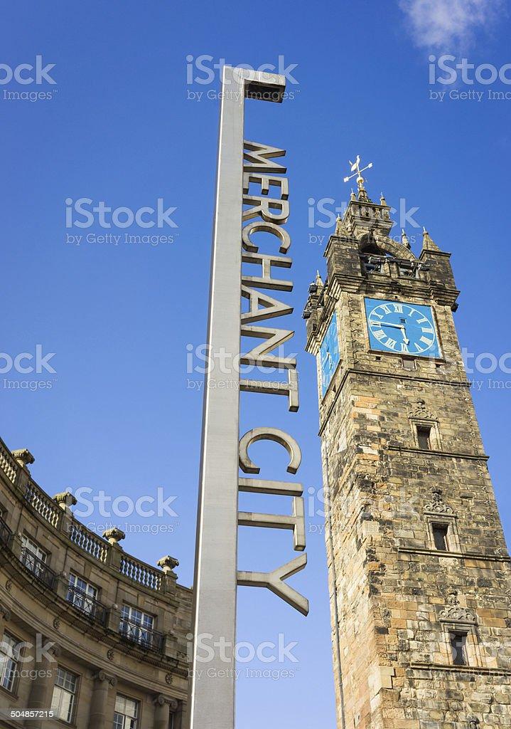 Merchant City in Glasgow stock photo