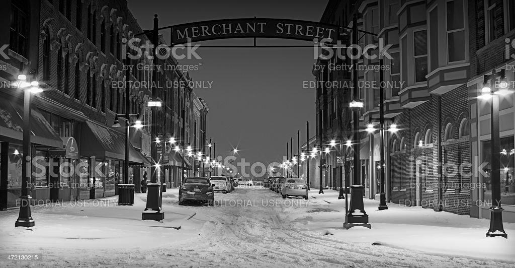 Merchant Street stock photo
