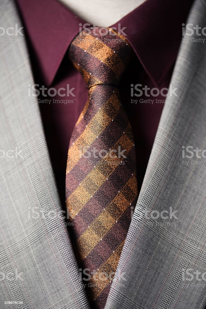merchant with a tie stock photo