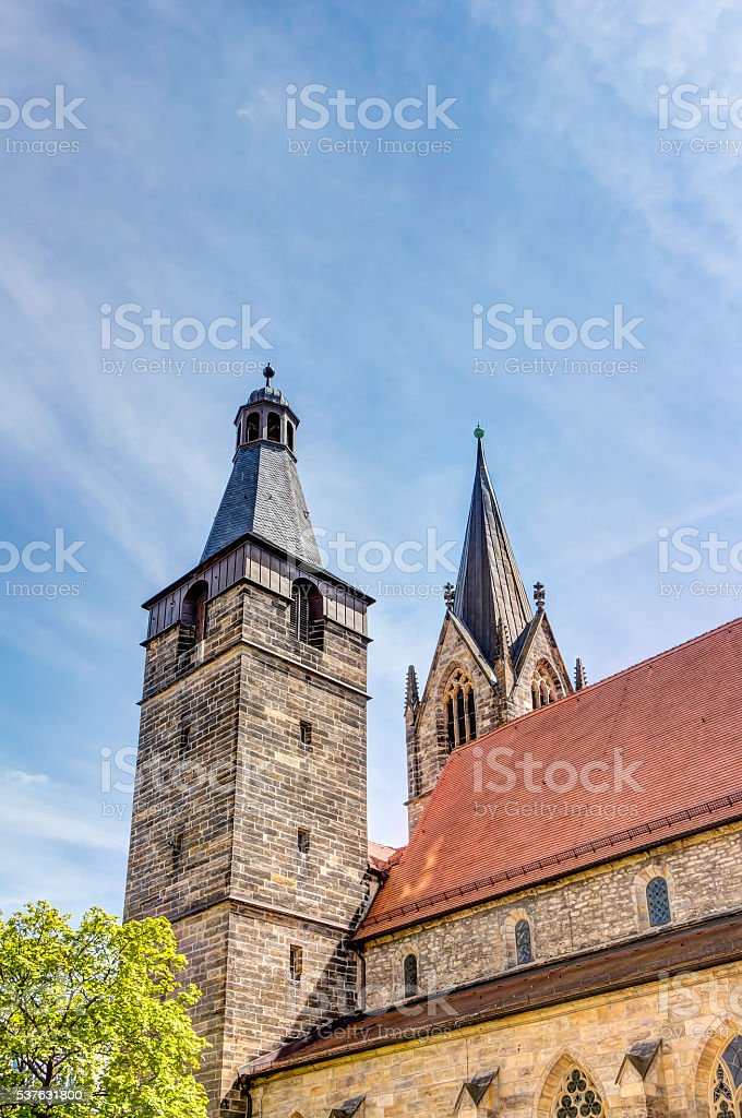 Kaufmannskirche in Erfurt stock photo
