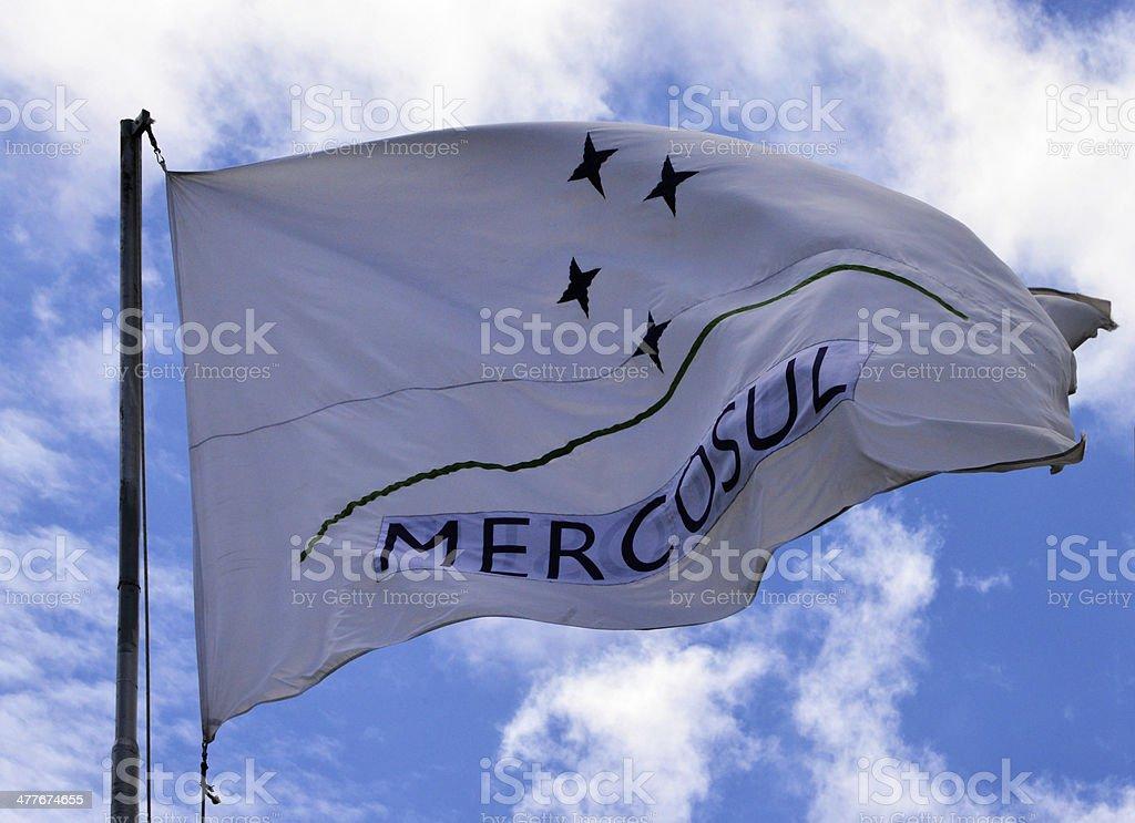 Mercosur / Mercosul flag stock photo