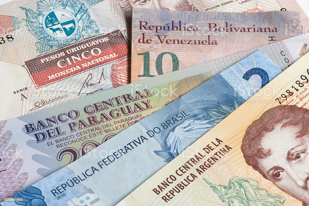 Mercosur trading bloc stock photo