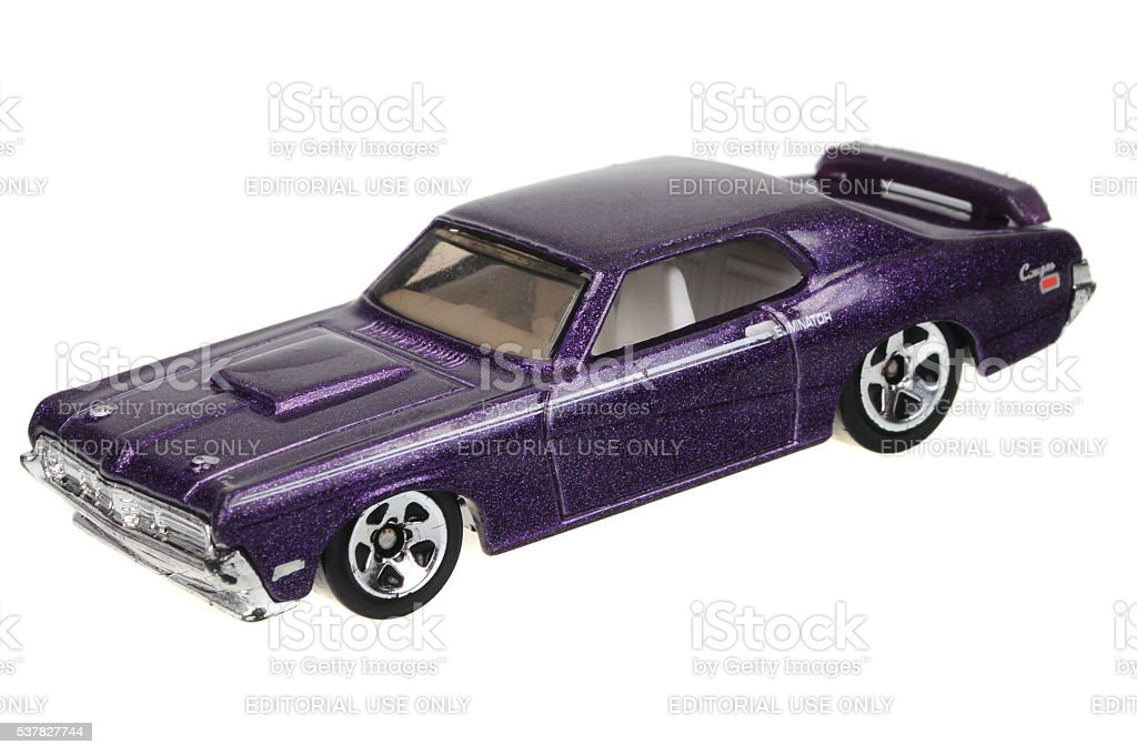 1969 Mercury Cougar Eliminator Hot Wheels Diecast Toy Car stock photo