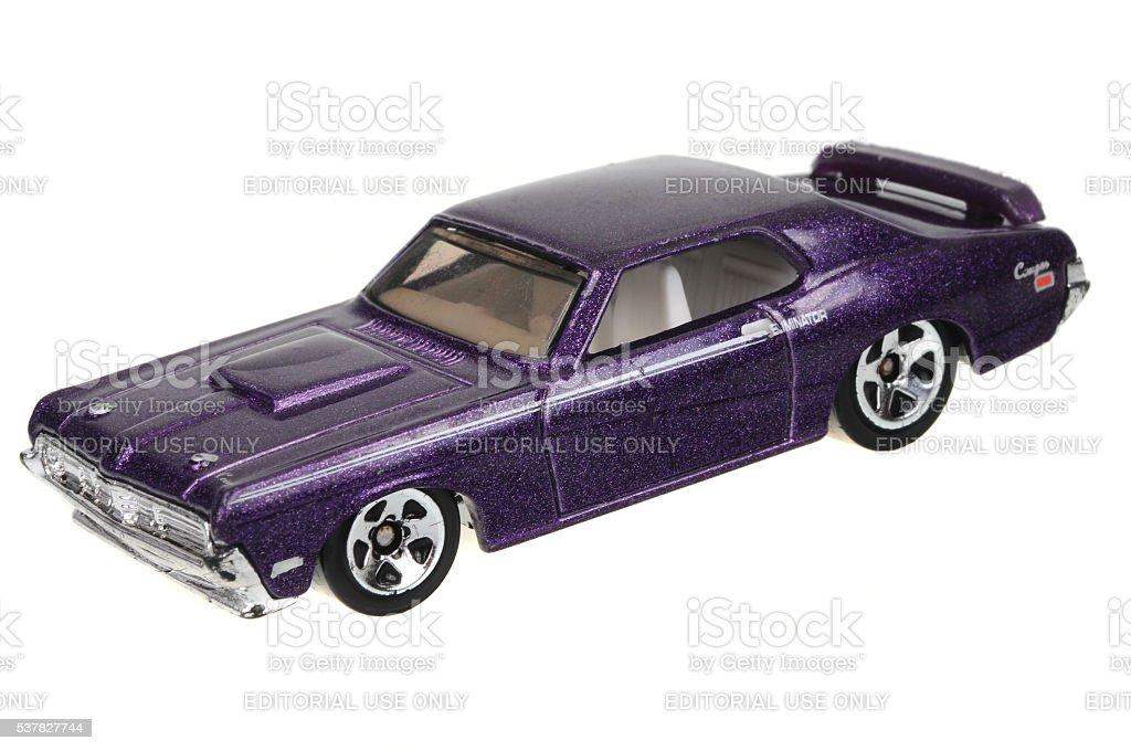 1969 Mercury Cougar Eliminator Hot Wheels Diecast Toy Car stock photo