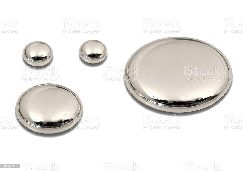 Mercury - drops (Hg) stock photo