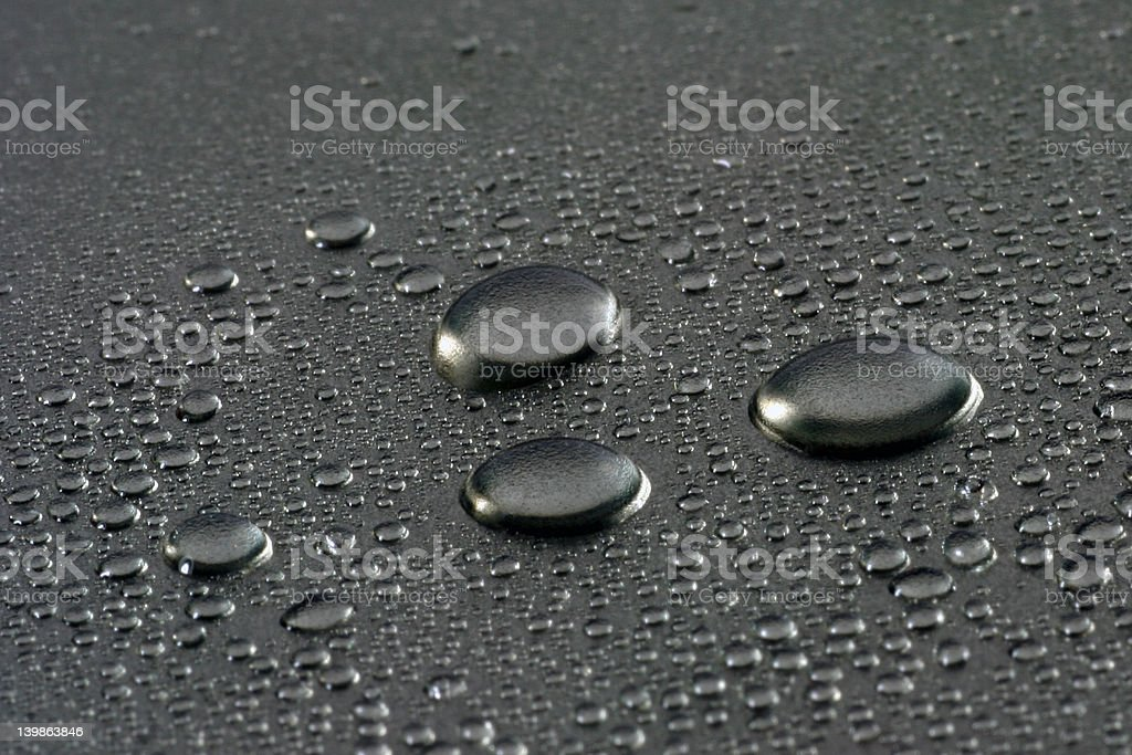 mercury drops royalty-free stock photo