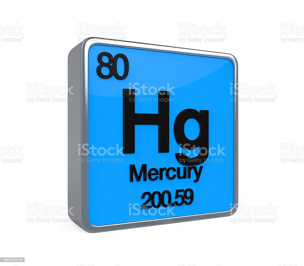 Mercury Element Periodic Table stock photo