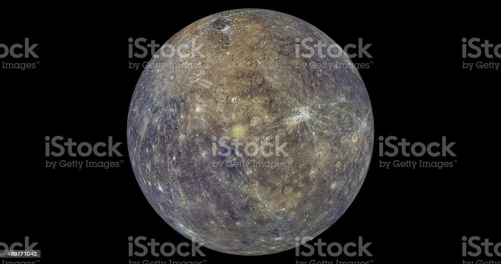 Mercury in colour stock photo