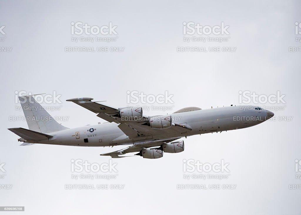 E6B Mercury Mobile command aircraft stock photo