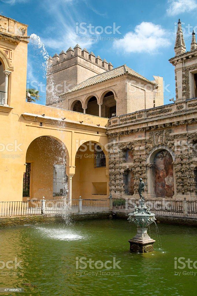 Mercury's Pool, Alcazar, Sevilla royalty-free stock photo