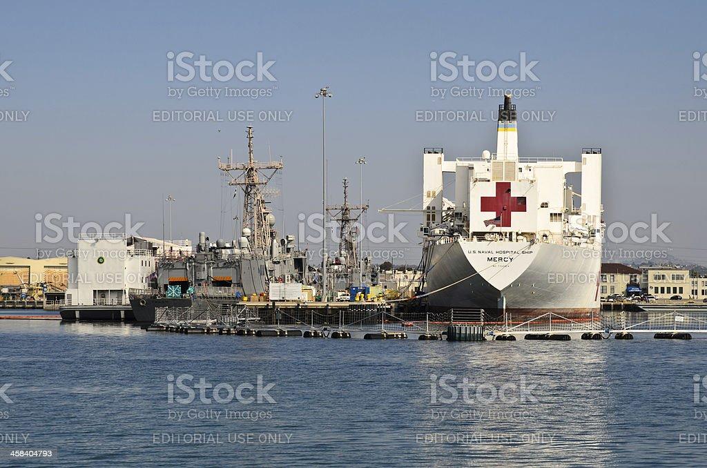 Mercy, the floating hospital, CA, USA stock photo