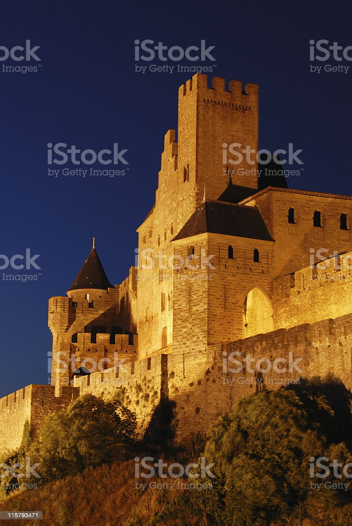 Merdieval carcassonne city royalty-free stock photo