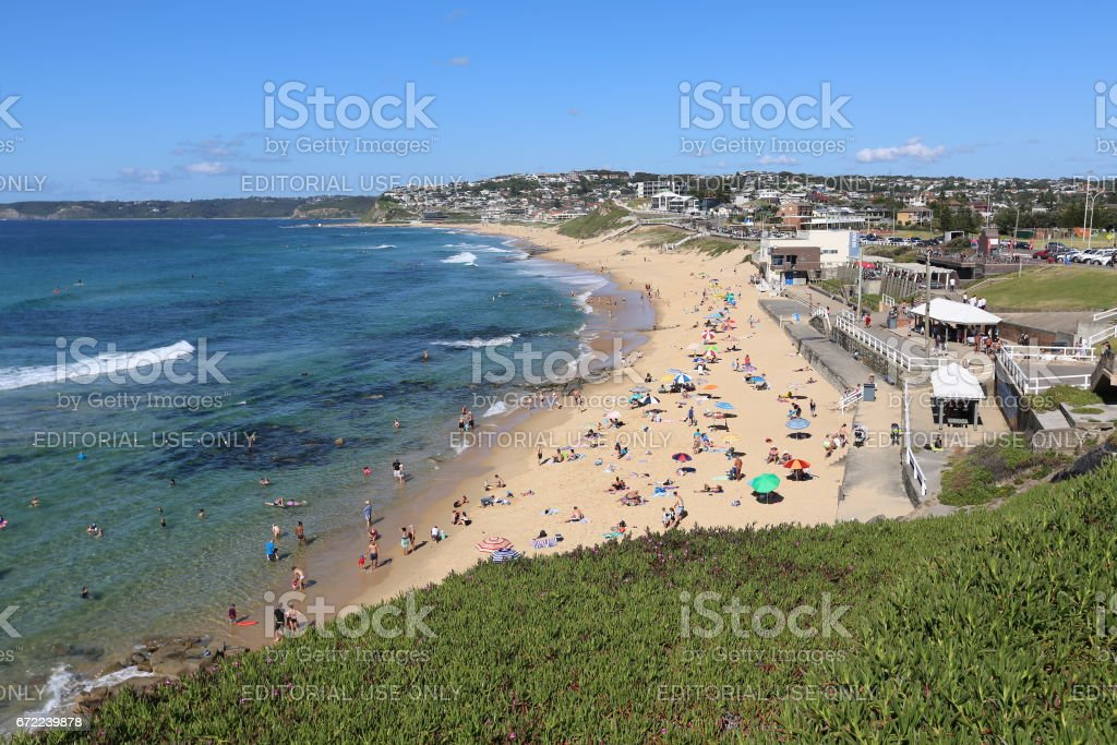 Merewether Beach, Newcastle NSW stock photo