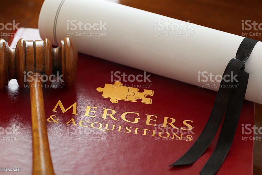Mergers and Acquisitions Law stock photo