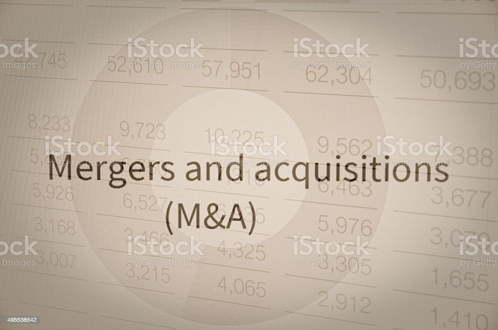 Mergers and acquisitions stock photo