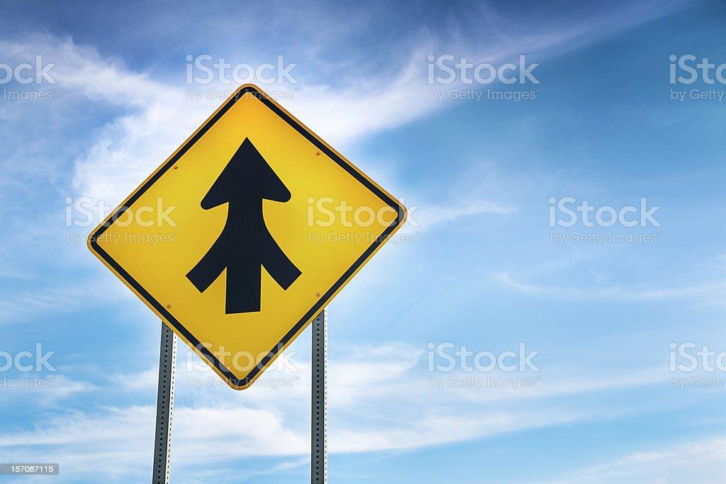 Merging- it's good direction stock photo