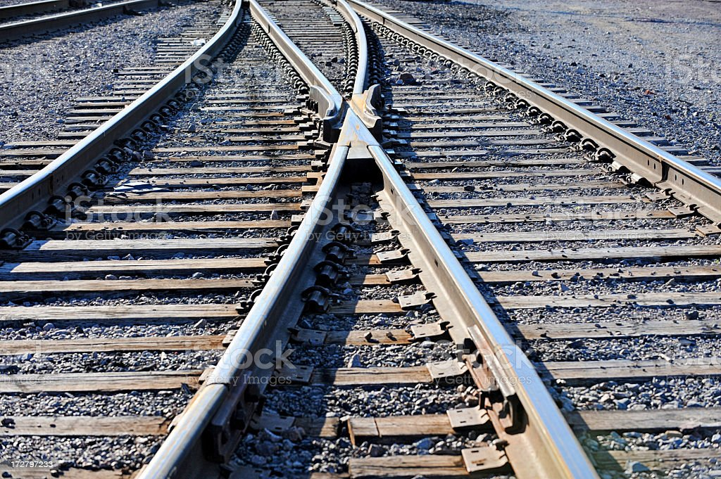 Merging Tracks royalty-free stock photo
