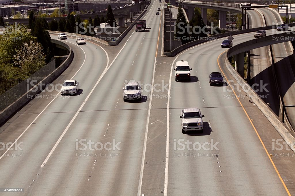 Merging Traffic stock photo