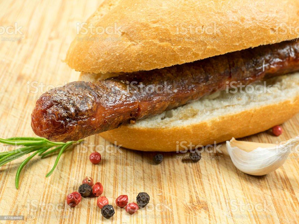 Merguez - grill sausage stock photo