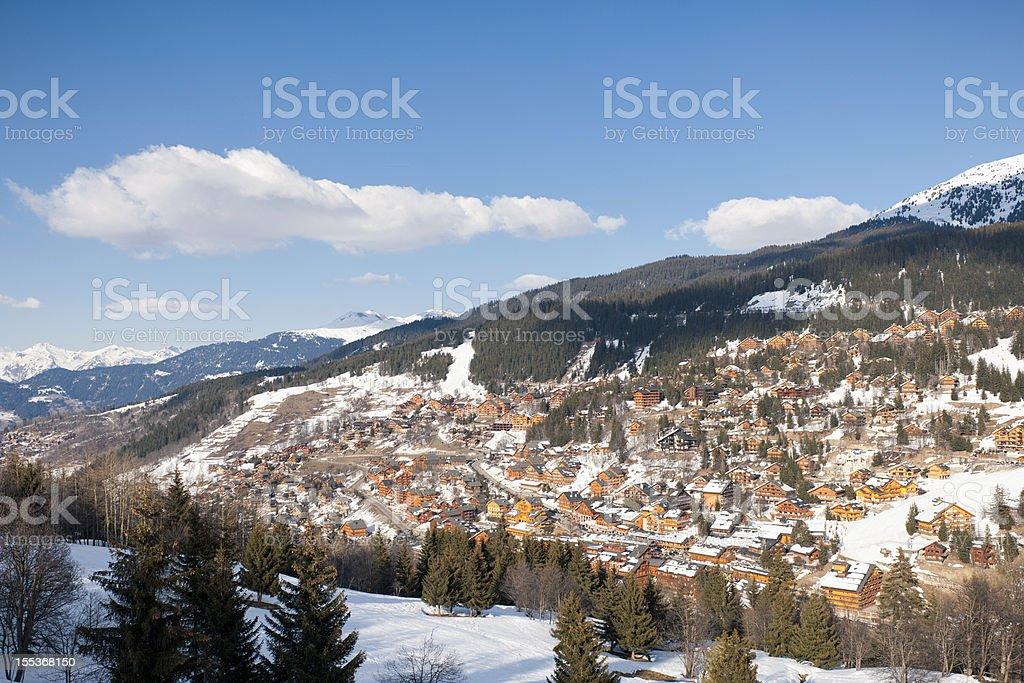Meribel in the Trois Vallees, France stock photo
