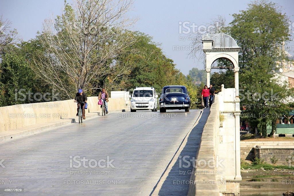 Meric bridge stock photo