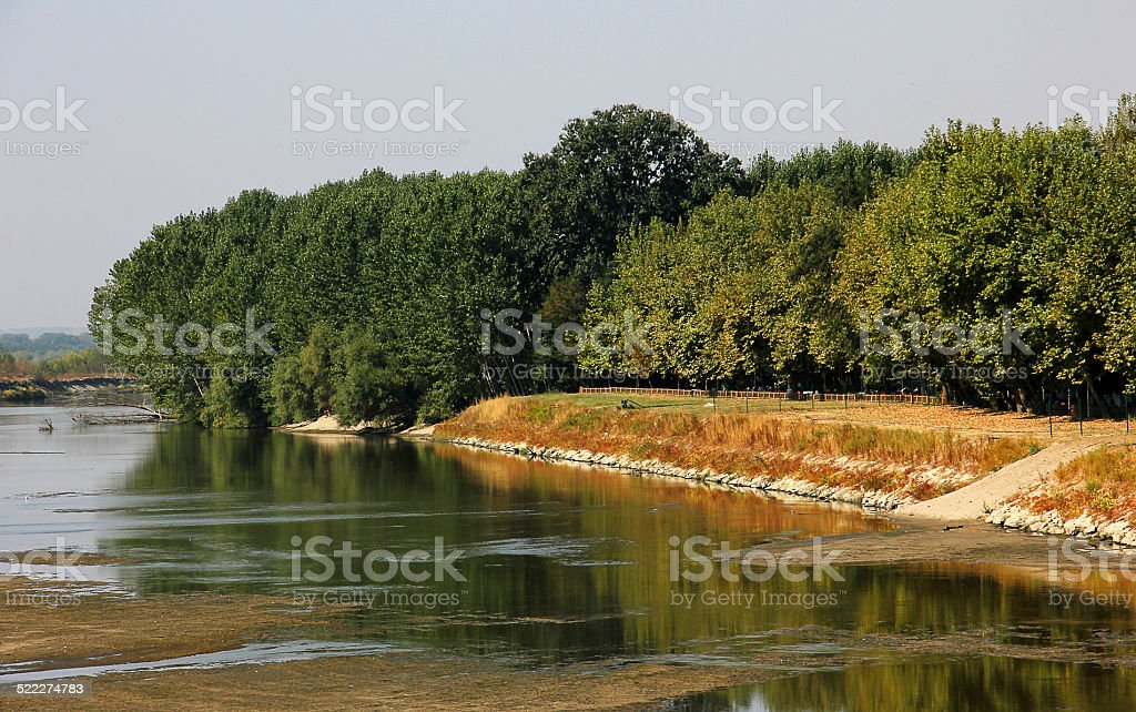 meric river in edirne stock photo