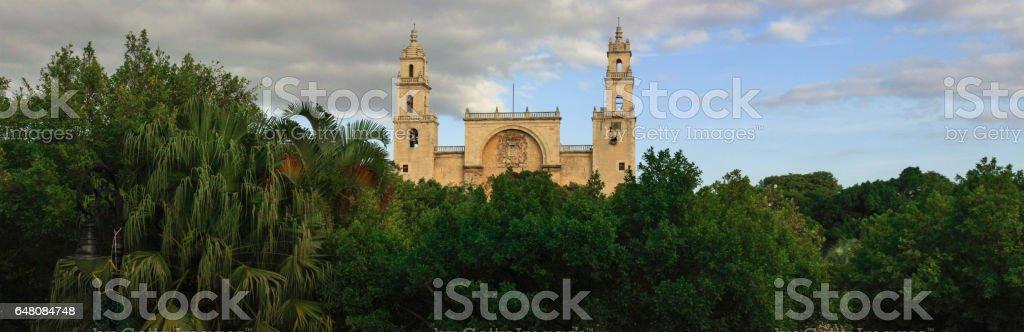 Merida cathedral, Yucatan, Mexico stock photo